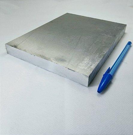 "chapa de aluminio lisa 3/4"" = (19,05mm) = (1,9cm)"