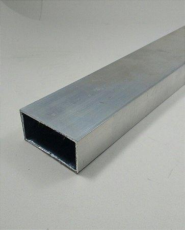 """Tubo Retangular de Alumínio 2"""" x 1"""" = (5,08cm x 25,4cm)"""