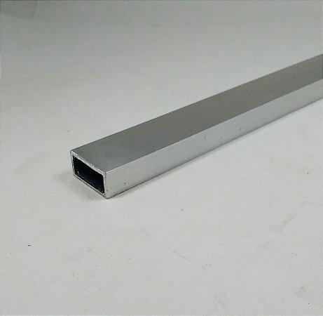 """Tubo Retangular de Alumínio 1"""" x 1/2"""" = (2,54cm x 1,27cm)"""