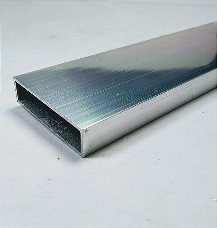 """Tubo Retangular de Alumínio 2"""" x 1/2"""" = (5,08cm x 1,27cm)"""