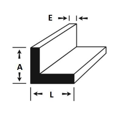 """Cantoneira de Aluminio 1"""" X 3/16"""" (2,54cm X 4,76mm)"""