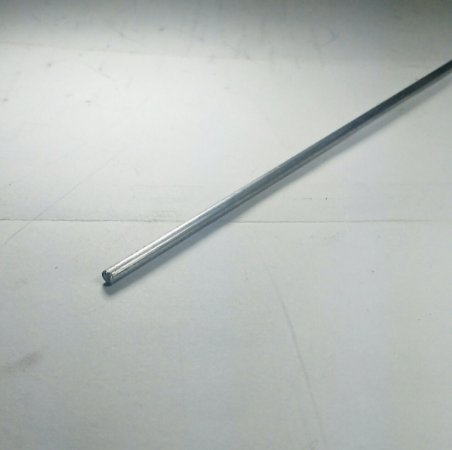 """Vergalhão redondo aluminio 1/8"""" (3,17mm)"""