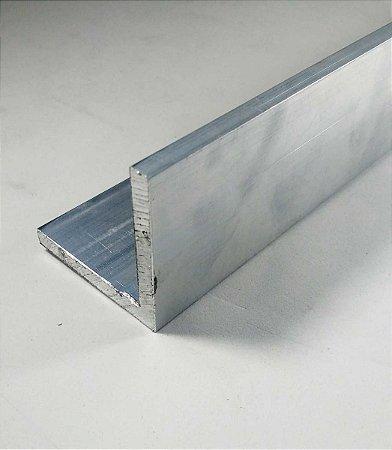 """Cantoneira de Aluminio 3"""" X 1/4"""" (7,62cm X 6,35mm)"""