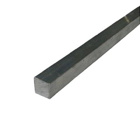 """Vergalhão quadrado de alumínio 5/8"""" (15,87mm)"""