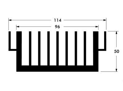 Dissipador de calor de aluminio Di 114