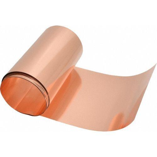 Folha de cobre 0,15mm espessura x 30cm largura