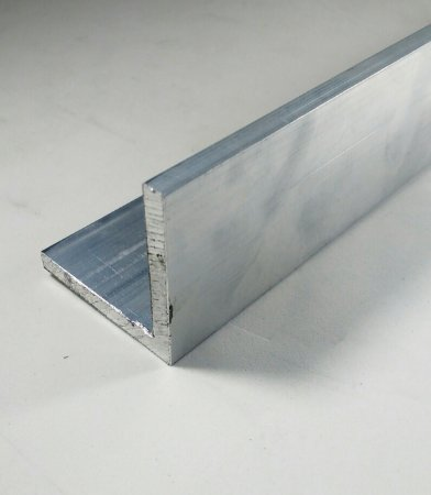 """17 barras Cantoneira de Aluminio 2"""" X 1/4"""" (5,08cm X 6,35mm) com 1mt"""