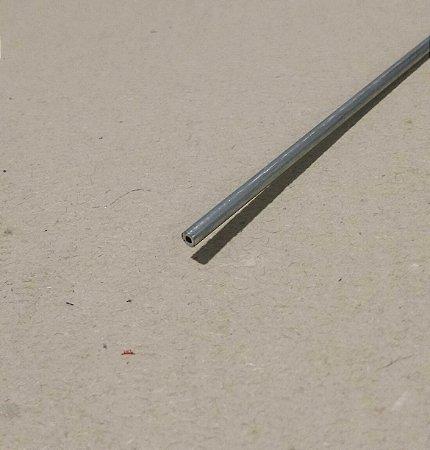 "Tubo Redondo aluminio 1/8"" x 1/32"" (3,17mm x 0,79mm) com  99cm"