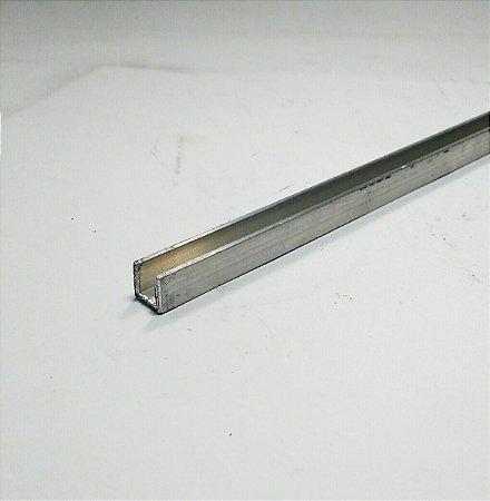 Perfil U De Aluminio 3/8 X 1/16 = (9,52mm X 1,58mm) com 1 metro