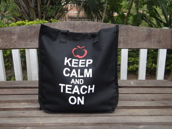 BOLSA KEEP CALM AND TEACH ON