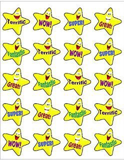 ADESIVOS PARA PROFESSOR: ENCOURAGING STARS STICKERS (TCR5126)