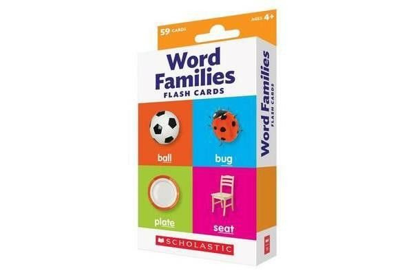 FLASH CARDS WORD FAMILIES SCHOLASTIC