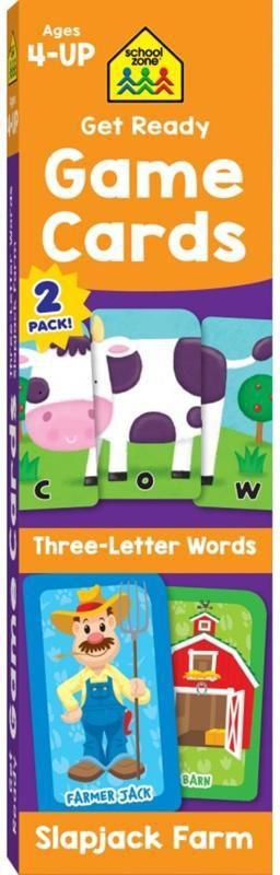 GET READY GAME CARDS THREE-LETTER WORDS & SLAPJACK FARM 2-PACK