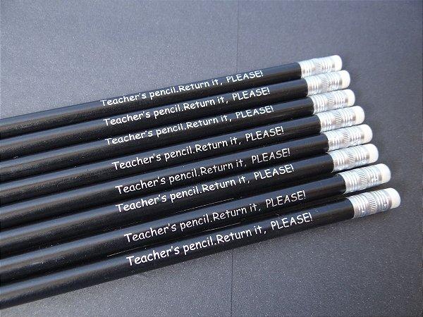 CONJUNTO MISTO DE LÁPIS:  TEACHER'S PENCIL. RETURN IT, PLEASE!