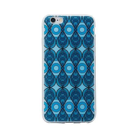 Case Silicone Azulejo Azul