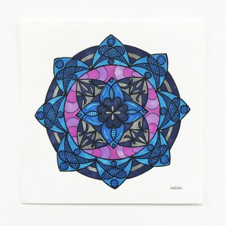 Mandala Flox Azul - Original