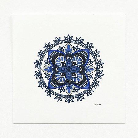 Mandala Bordado Azul - Original