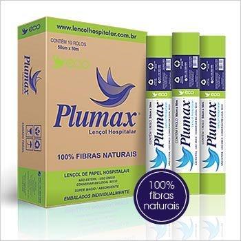 Papel Lençol Plumax Eco - 100 % Fibras Naturais