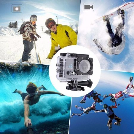 Câmera - Action Cam Wifi Câmera Capacete Esporte Mergulho Hd 1080p 4k