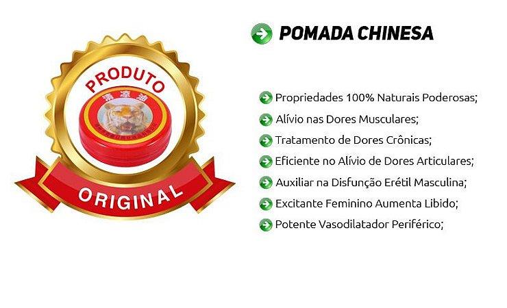 Pomada Chinesa Tigre Original - Potente Vaso Dilatador