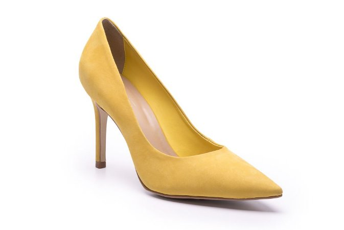 Scarpin Stiletto Nobuck GIALLO