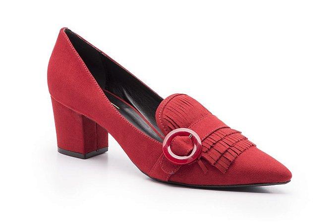 Scarpin RED HEART Suede Vermelho Isorella