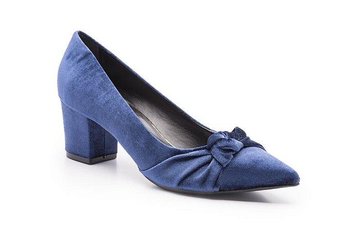 Scarpin CRUISE VELVET Veludo Azul Isorella
