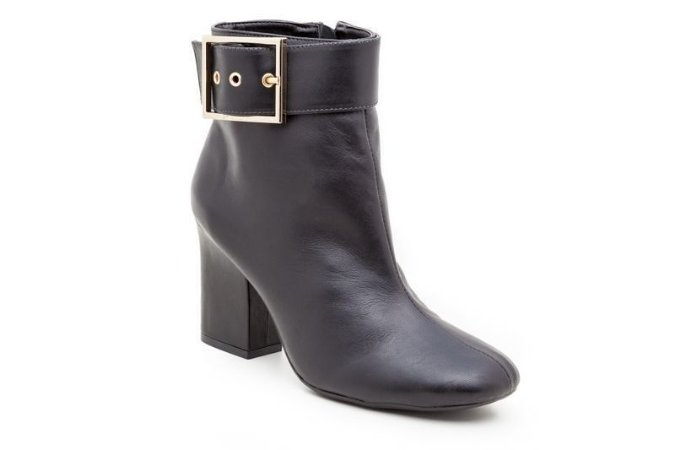 Botinha Ankle Boot Black Glam