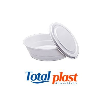 Marmita de Isopor 750ml com tampa Totalplast fardo c/100
