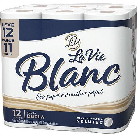 Papel Higiênico La Vie Blanc c/12 rolos Folha Dupla