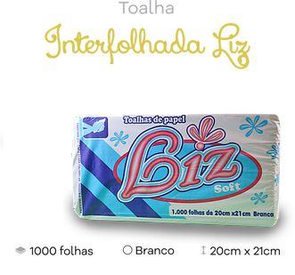 Papel Toalha Branco Liz, 20x21, C/1000 folhas