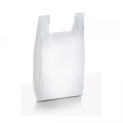 Sacola Branca Lisa 29x44, tamanho P, C/1000