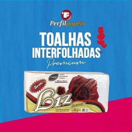 Papel Toalha Novo Liz Premium, 100% Virgem, 20x21 c/ 2400 folhas