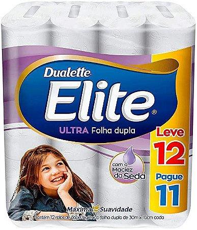 Papel Higiênico Elite Dualette Folha Dupla Ultra 12 rolos