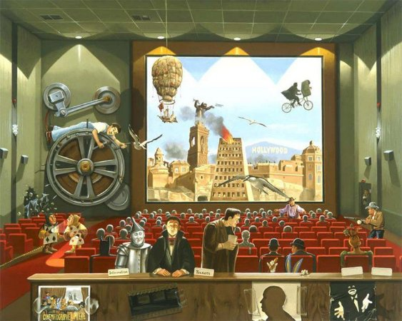 GICLÉE EM TELA: FILM FESTIVAL (44x55 cm)
