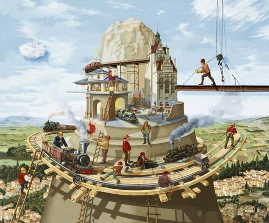 GICLÉE EM TELA: MEN AT WORK (45x55 cm)