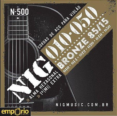 Encordoamento NIG 010 para Violão Aço