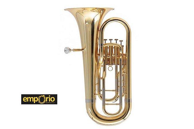 Euphonium Schieffer 4 Pistos/ Bb/ Laqueado - com estojo