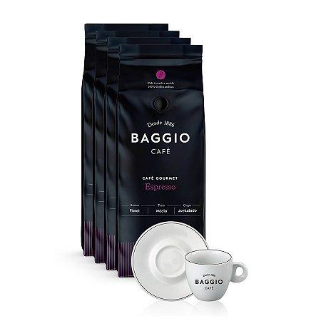 Kit Cafeteria Baggio Gourmet em grãos com Xícara