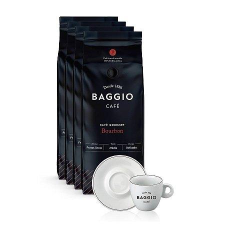 Kit Cafeteria Baggio Bourbon em grãos com Xícara