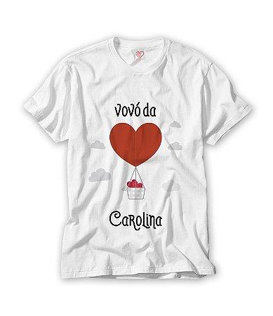 Camiseta Vovó Balão de Coração