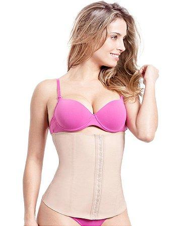 1e7ea432d Cinta Feminina Modeladora Body Shaper Cotton Chocolate Fechamento ...