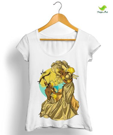 Camiseta - Logunedé e Oxum (mãe e filho)
