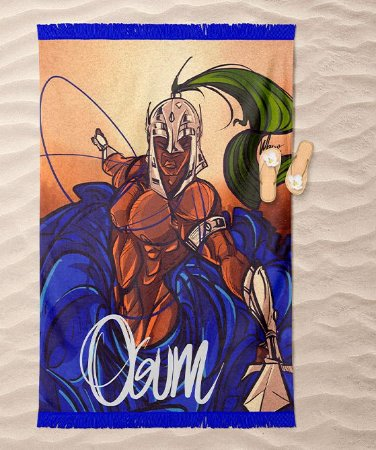 Canga de praia - Ogum guerreiro