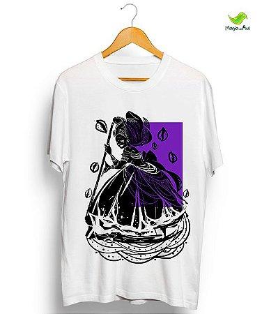 Camiseta de algodão - Nanã, coleção orixás raiz vintage