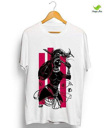 Camiseta em algodão - Obá, coleção Orixás raizes vintage
