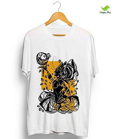Camiseta em algodão - Oxum, coleção Orixás Raiz vontage