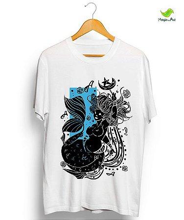 Camiseta em algodão - Yemonjá, coleção Orixás raiz vintage