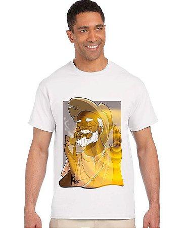 Camiseta - Preto velho irradia luz