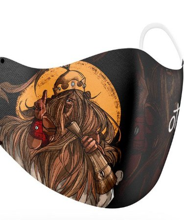 Máscara de proteção em pano -  Omolu reina